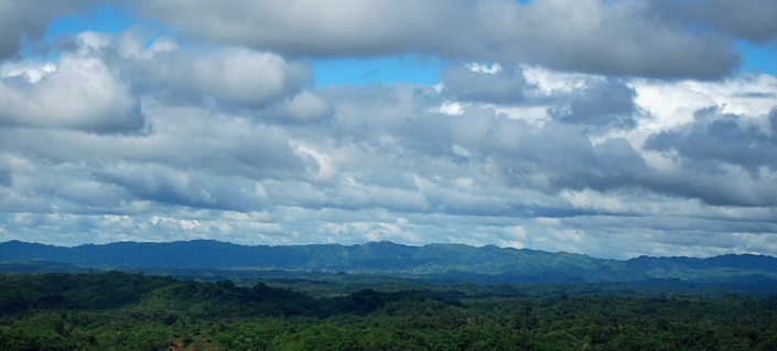 A VIEW OF INDIAN MIZO HILLS FROM CHITTAGONG HILL TRACTS