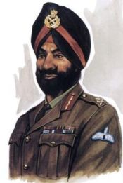 General Sujan Singh Uban, Inspector General of Special Frontier Force was awarded the Medal of AVSM for rendering Very Distinguished Service during the Indo-Pak War of 1971.