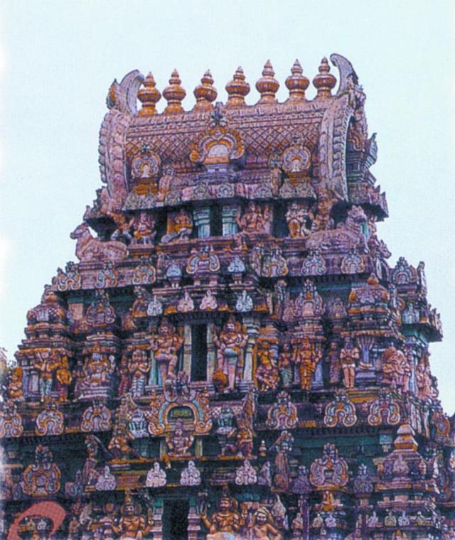 Sri Kalahasti Temple at Sri Kalahasti, Andhra Pradesh, India.