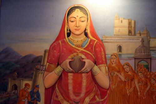 Rani Padmini - Her Essence and Her Existence. She had defended her essence and had destroyed her physical existence and her essence still lives in the heart of Indians and gives them a sense of pride. She had declared her Victory over Death.