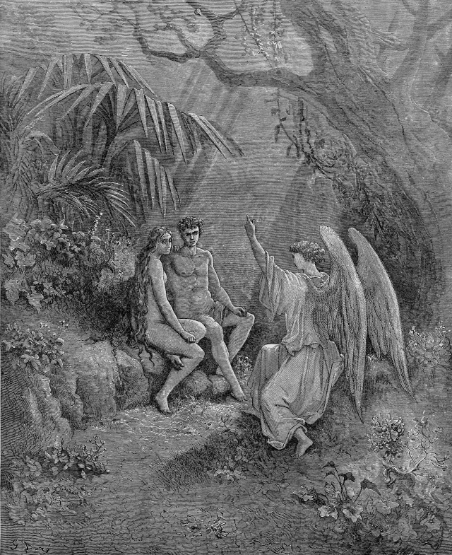 In John Milton's epic poem of Paradise Lost, angel Michael explained 'The Law of Temperance' to Adam, the first created man to face the threat of death. Man is condemned to lead a life of bitter servitude until his death.