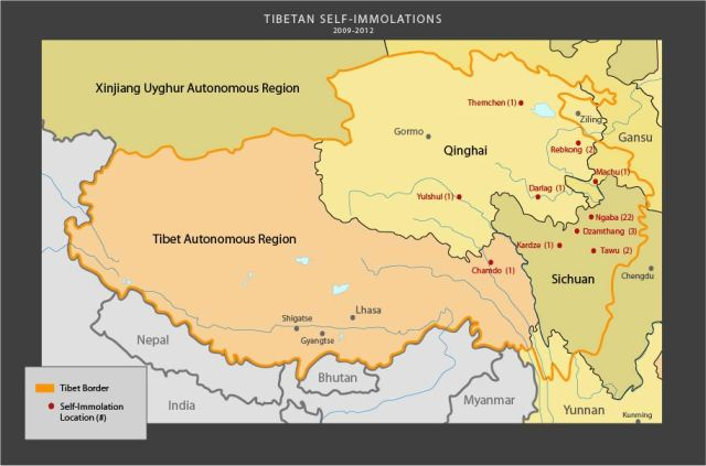 """People's Republic of China's province called Tibetan Autonomous Region or """"TAR"""" was established in 1965 after Communist China had annexed Tibetan territory and illegally added it to adjoining Chinese provinces. Hence, there is a valid dispute about China-Tibet boundaries."""