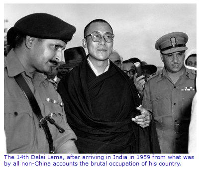 TEN TRUTHS ABOUT THE 1962 INDIA-CHINA WAR: The first truth is that of the military occupation of Tibet. His Holiness The 14th Dalai Lama fled to India during 1959 after a failed Tibetan uprising against Chinese occupation.