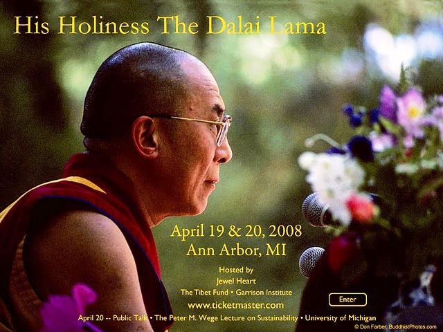 THE SPIRITS OF SPECIAL FRONTIER FORCE WELCOME HIS HOLINESS THE DALAI LAMA TO ANN ARBOR, MICHIGAN.