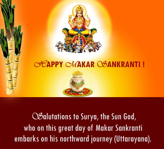 Makar Sankranti is a festival celebrated in India in recognition of Sun's celestial journey which traverses the zodiacal sign called Capricorn during the month of January.
