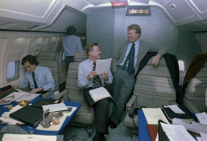 Jimmy Carter prior to his nomination as a candidate for presidential election had received a full briefing from the Central Intelligence Agency. President Carter is seen with his National Security Adviser Mr. Brzezinski and both of them were fully aware of the US-India-Tibet military alliance/pact to contain the military threat posed by People's Republic of China.