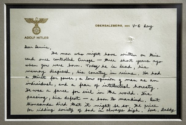 Whole Dude - Whole Spy: This World War II era letter from Richard Helms to his young son Daniel reveals the long history of meritorious service rendered by Helms since the time he served in the wartime Office of Strategic Services.