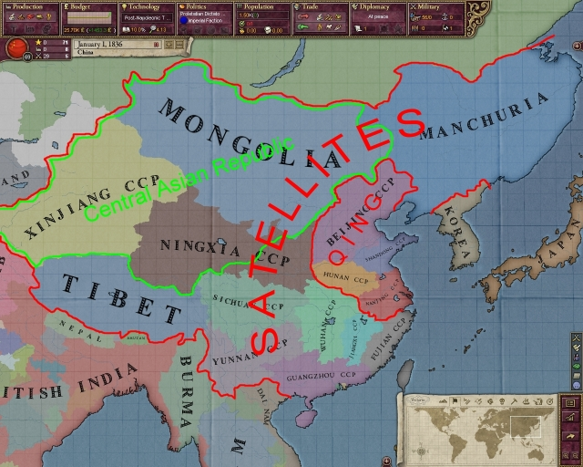 "Following the Communist Revolution that gave birth to People's Republic of China, the Communists have expanded their territory in all directions to implement the policy of ""Expansionism"" clearly articulated by Mao Tse-tung( 1893-1976), the founding father, the Chairman of the People's Republic of China(1949-1959) and of its Communist Party (1949-1976)."