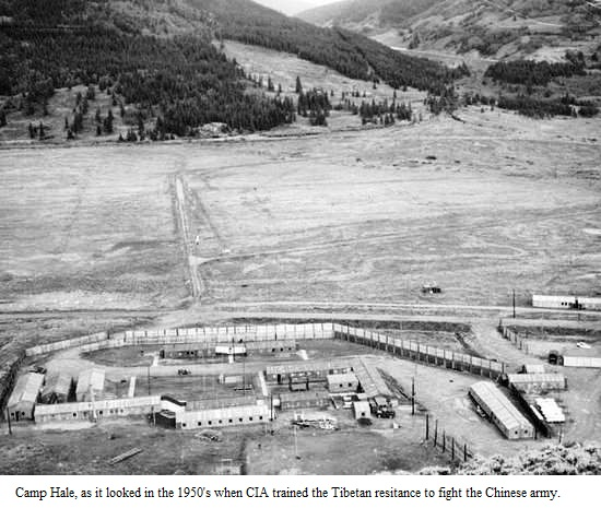 The quest for Freedom in Tibet. A military training Camp known as Camp Hale was established in Colorado under the supervision of CIA officers Roger E. McCarthy and John Reagan.