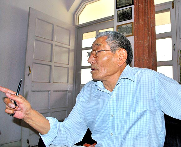 Special Frontier Force-The Problem of Espionage: This is the photo image of Ratuk or Radug Ngawang at 84-years of age. While giving interviews to Indian news media and other writers, Ngawang had shared photo images that were illegally taken at Establishment No. 22 or Special Frontier Force where such photography is strictly forbidden. I have no hesitation to identify him as a Communist Agent who had supported espionage activity.