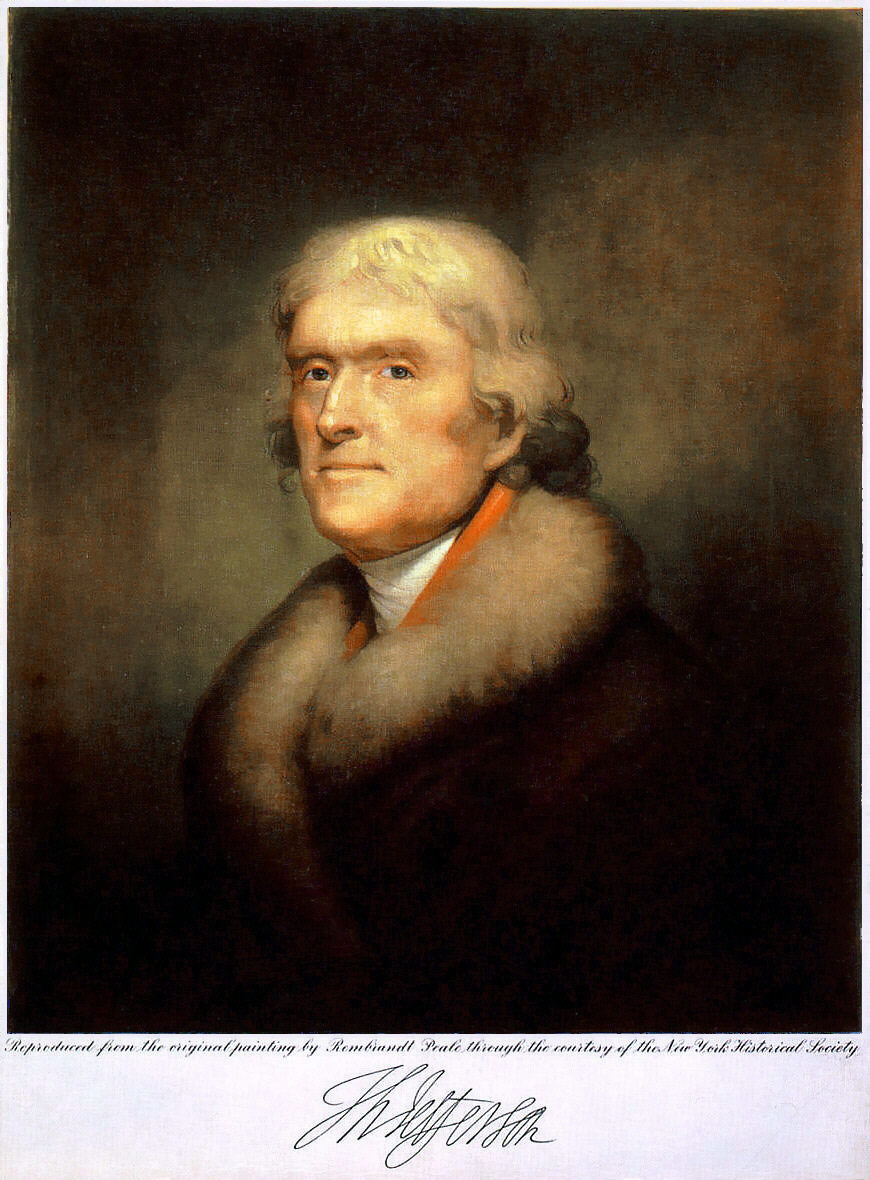 Whole Dude - Whole Declaration: Thomas Jefferson(b. April 13, 1743 - d. July 04, 1826), 3rd President of the United States(1801-1809), the  principal author of The Declaration of Independence adopted July 04, 1776. It was a declaration of the principles to support the demand for Independence. His personal commitment to its principles was profound and intense. He became a symbol of the ideals expressed in the Declaration.