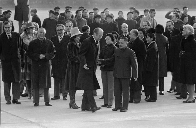 WHOLE DUDE - WHOLE SIN : December 01, 1975. President Gerald Ford with Deng Xiaoping in Beijing. George Herbert Walker Bush who later became CIA's Director on January 30, 1976 is also seen in this photo. Both President Ford and George Bush were fully aware of America's partnership with India, and Tibet to fight the military threat posed by Communism.
