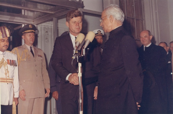 President Kennedy with Indian President Sarvepalli Radhakrishnan