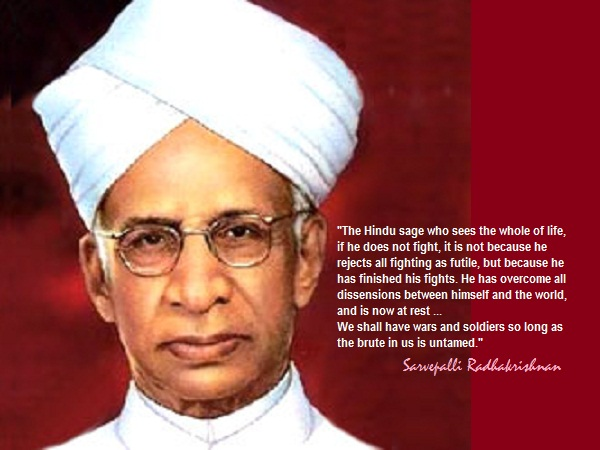 Dr. Sarvepalli Radhakrishnan and the history of Special Frontier Force-Establishment No. 22: In India, school children celebrate Dr. Radhakrishnan's birthday(05 September) as Teacher's Day and every year that I spent as a student, I had a special reason to remember my family connection with his daughter.