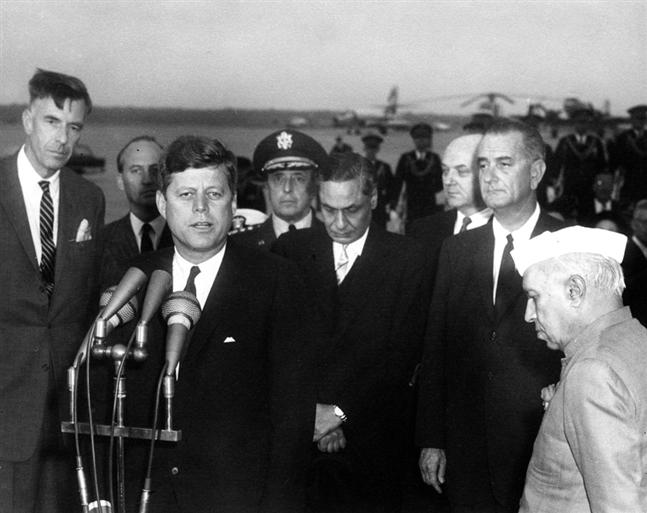 The History of Special Frontier Force-Establishment No. 22: John Kenneth Galbraith, the US Ambassador to India played a very helpful role to bring India, and the United States to come together on mutual security concerns and to fight the threat posed by Communism. This photo image is from 1961 taken during Prime Minister Nehru's visit to Washington D.C.