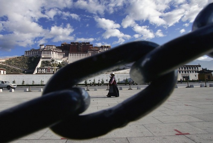 SPECIAL FRONTIER FORCE - TIBETAN RESISTANCE: The Potala Palace, Lhasa, Tibet is the symbol of Natural Authority and is the seat of Natural Power in Tibet. The Chain is the symbol of Tibet's Occupation, the existence that violates the Principle of Natural State or Natural Condition.