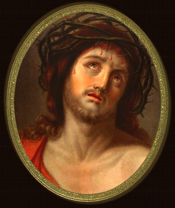 "SPIRITUALITY SCIENCE - BEHOLD THE MAN - ECCE HOMO: Jesus Christ, the Son of Man lived as a human being.  The phrase 'Ecce Homo'(Latin. Behold The Man) is used to describe a picture or statue of Jesus wearing a Crown of Thorns. This picture describes the nature of man's dependent and conditioned existence. Man in his mind and imagination makes himself ""Free"" and in reality exists as a Slave and there is no ""Freedom"" or ""Salvation"", or ""Liberation"" without the operation of an uplifting Force of God's Unconditioned Love called ""Divine Providence"", the Force of Mercy, Grace, and Compassion called ""KRUPA"" in Indian Sanskrit language."