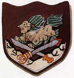 SPECIAL FRONTIER FORCE - THE OFFICIAL SECRETS ACT: THIS SHOULDER BADGE USED BY MEMBERS OF SPECIAL FRONTIER FORCE IS ALLOWED FOR PUBLIC DISPLAY.