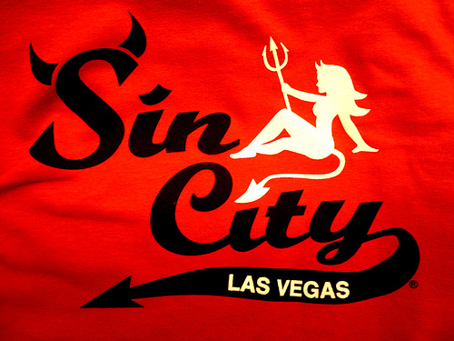 "WHOLE TEAM - WHOLE LABOR - SCAPEGOAT TRADITION: FOR MY SIN REMOVAL AND SIN DISPOSAL SERVICE I HAVE CAREFULLY CHOSEN THE CITY OF LAS VEGAS, NEVADA WHICH HAS ALREADY ESTABLISHED ITS REPUTATION AS ""SIN CITY."""