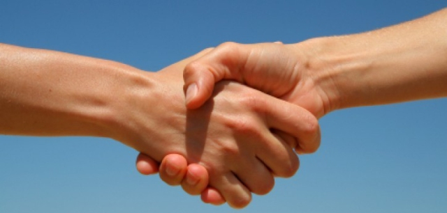 "WHOLE TEAM - WHOLE TRADITION - WHOLE CONCEPTION: HANDSHAKE IS A TRADITIONAL FORM OF PARTING AND GREETING. SHAKE HANDS INVOLVES THE ACT OF CLASPING EACH OTHER'S HANDS AS A TOKEN OF AGREEMENT OR FRIENDSHIP. I EVOLVED A NEW, ORIGINAL TRADITION CALLED ""SHAKE AND LIKE"" THAT WILL NOT INVOLVE CLASPING EACH OTHER'S HANDS."