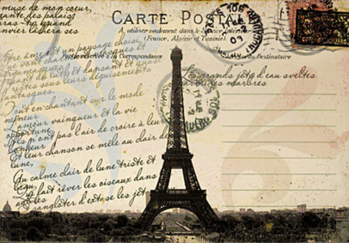 WHOLE  TEAM  -  WHOLE  ASSIGNMENT  - #EVENINGINPARIS  :  AFTER  #ARCHANGEL  HAS  GONE  TO  PARIS  TO  RESCUE  MISS  POE  FROM  CLUTCHES  OF  'THE  DEVIL' ,  WE  RECEIVED  A  POSTCARD  MAILED  FROM  PARIS .
