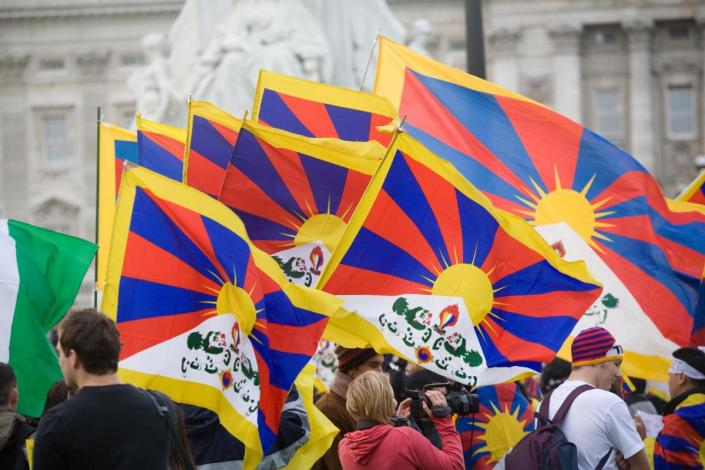 THE  BATTLE  OF  RIGHT  AGAINST  MIGHT  : 56TH  ANNIVERSARY  OF  TIBETAN  NATIONAL  UPRISING  DAY .  SEEKING  JUSTICE  IN  OCCUPIED  TIBET .  OCCUPATION  IS  UNJUST,  ILLEGAL , AND  IS  A  LIE  IMPOSED  BY  CHINA .