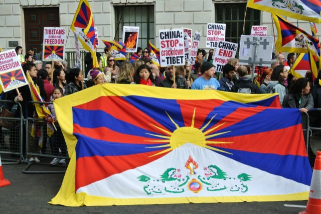 THE  BATTLE  OF  RIGHT  AGAINST  MIGHT : 56TH  ANNIVERSARY  OF  TIBETAN  NATIONAL  UPRISING  DAY,  MARCH 10,  2015.  SEEKING  PEACE  AND  HARMONY  IN  OCCUPIED  TIBET .