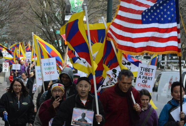 THE  BATTLE  OF  RIGHT  AGAINST  MIGHT  : 56TH  ANNIVERSARY  OF  TIBETAN  NATIONAL  UPRISING  DAY,  MARCH  10,  2015.  THE  BATTLE  WILL  CONTINUE  TILL  THE  OCCUPIER  IS  EVICTED  FROM  TIBET .