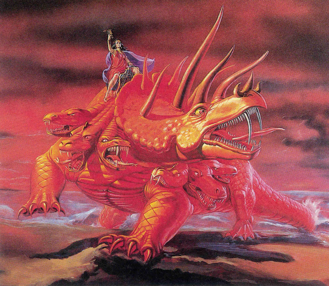 SPECIAL  FRONTIER  FORCE  VS  THE  EVIL  RED  EMPIRE  -  RED  CHINA :  THE  WOMAN  RIDING  THE  SCARLET  BEAST  IS  THE  PERSONIFICATION  OF  THE  EVIL  RED  EMPIRE  -  RED  CHINA .