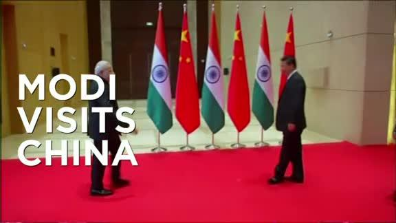 INDIAN PRIME MINISTER VISITS RED CHINA .