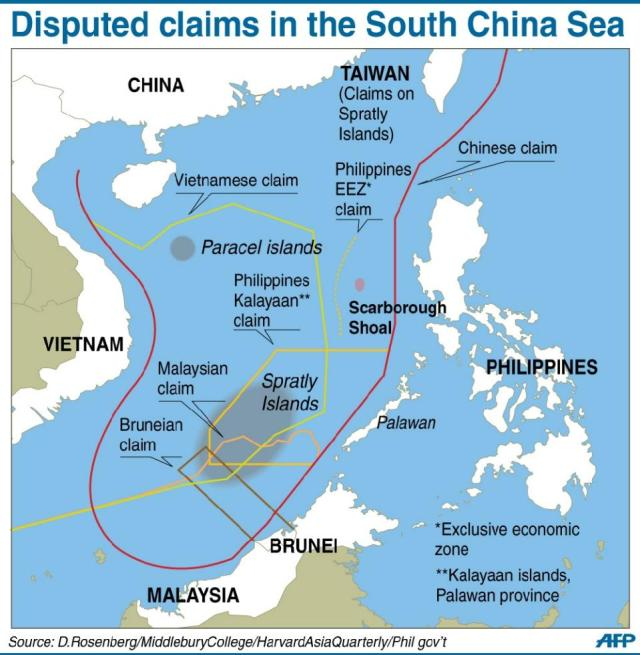 RED  CHINA  -  EXPANSIONISM  -  SOUTH  CHINA  SEA .