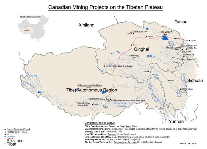 red china neocolonialist canadian mining projects tibet