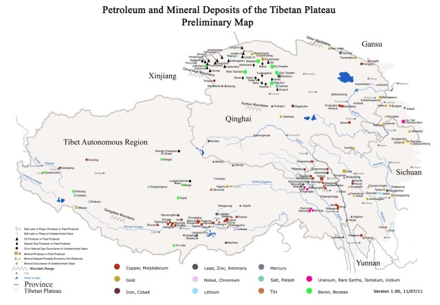 red china neocolonialist mineral deposits tibet