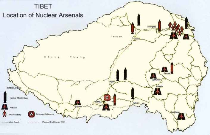 THE  EVIL  RED  EMPIRE  -  RED  CHINA  -  COLONIAL  RULE  OVER  TIBET :  TIBET  IS  POISONED  WITH  LONGLIVING  NUCLEAR  WASTE  FROM  RED  CHINA'S  NUCLEAR  EXPANSIONISM .