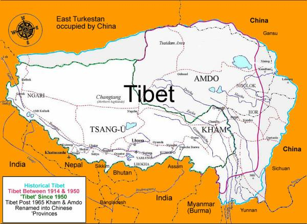 the evil red empire map of tibet2