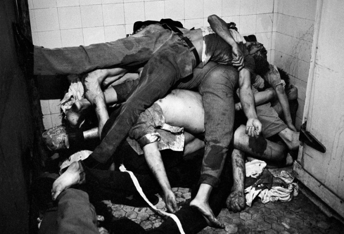 1989, Beijing, China, Bodies of protestors shot by the Chinese army piled up in the corner of Capital hospital after the Chinese army occupation of Tiananmen Square on the 4th June, 1989.,; date created: 2008:05:06; Tiananmen Square Massacre