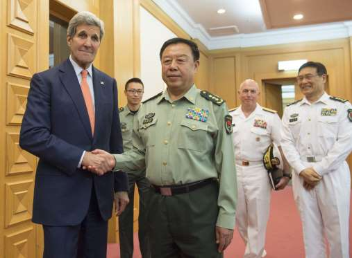 THE  EVIL  RED  EMPIRE -  RED  CHINA - LIAR :  GENERAL  FAN CHANGLONG, VICE-CHAIRMAN CENTRAL MILITARY COMMISSION, BEIJING  VISITED  PENTAGON  ON  JUNE 11, 2015.