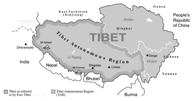 THE EVIL RED EMPIRE - RED CHINA - THE GREAT PROBLEM OF TIBET : TIBET HAS LAND AREA OF 870, 000 SQUARE MILES. TIBET IS LARGER IN SIZE COMPARED TO ASIAN NATIONS LIKE JAPAN, TAIWAN, PHILIPPINES, INDONESIA, MALAYSIA, VIETNAM, AND BRUNEI. TIBET IS THREE-TIMES LARGER THAN TEXAS STATE OF UNITED STATES .