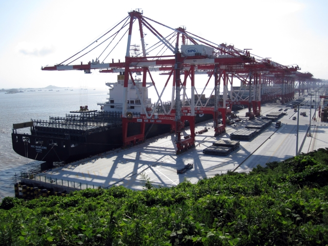 Asteroid Day - Shanghai port -  Yangshan port. CAN RED CHINA BUY INSURANCE TO WARD OFF HEAVENLY STRIKE???