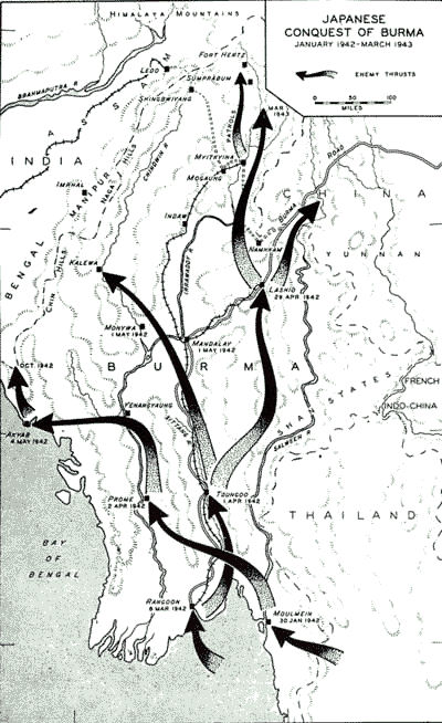 Special Frontier Force Reviews Hump Airlift Operation 1942 - 1945. Japan's conquest of Burma in 1942 cutoff the overland supply route known as the Burma Road forcing the choice of an aerial route to deliver military supplies to Nationalist China.