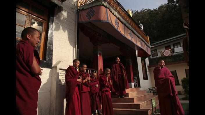 WHAT IS TIBET'S FUTURE?  TSECHOKLING MONASTERY, McLEOD GANJ, DHARAMSALA, INDIA. TIBETAN BUDDHISM REQUIRES INSTRUCTION AND TRAINING FROM A VERY YOUNG AGE. TIBETANS COME TO INDIA FOR FREEDOM OF EDUCATION.
