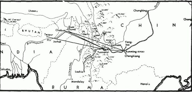 Special Frontier Force Reviews Hump Airlift Operation 1942 - 1945.