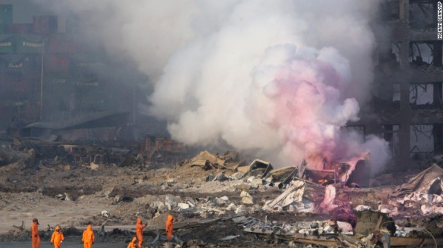 Apocalyptic Fire-Tianjin Explosion- Toxic Pink Smoke