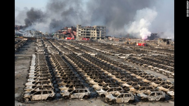 Apocalyptic Fire-Tianjin-World's 10th-busiest container Port
