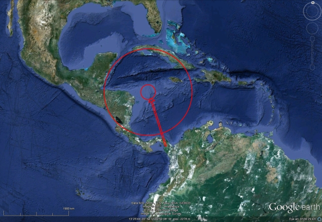 asteroid day mexico major extinction event 1600km central america
