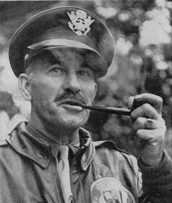 Special Frontier Force Reviews Hump Airlift Operation - China-Burma-India Theater-World War II - Brigadier General Tom Hardin, Commander, Hump Fliers.