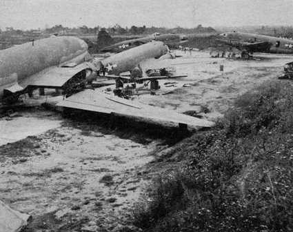 Special Frontier Force Reviews Hump Airlift Operation, China-Burma-India Theater World War II. Hump Flight Maintenance Field in India.