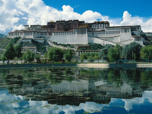 TIBET AWARENESS - POTALA PALACE, LHASA, TIBET. SPECIAL FRONTIER FORCE ACKNOWLEDGES THE DALAI LAMA AS THE RULER OF TIBET.