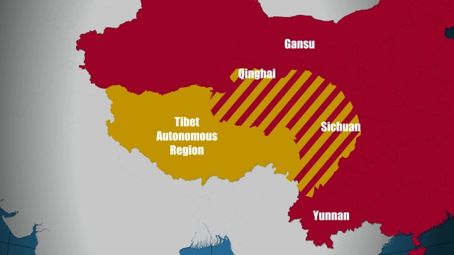 TIBET AWARENESS - TIBET IS NOT PART OF CHINA. TIBET INCLUDES TIBETAN TERRITORIES OF TIBETAN AUTONOMOUS REGION(TAR), AND TIBETAN TERRITORY INCLUDED IN QINGHAI, GANSU, SICHUAN, AND YUNNAN PROVINCES OF RED CHINA.