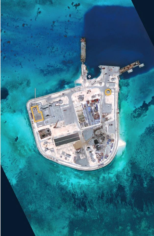 red china west philippine sea aggression johnson south reef